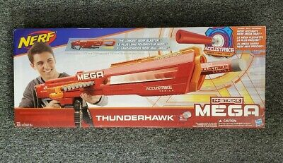 New Nerf N-strike Mega Accustrike Thunderhawk Longest Darts Blaster Kids Toy Gun