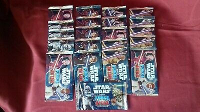 Lot Cartes STAR WARS FORCE / ATTAX - TOPPS - trading card game - 21 paquets -