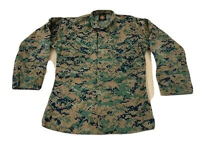 Khaki BDU Style SHIRT Military Army Marine Corps Navy Security Engineer S-2X