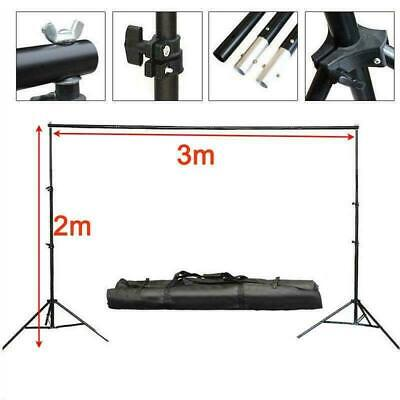 10Ft Adjustable Photography Background Support Stand Backdrop 4 Crossbar Kit !