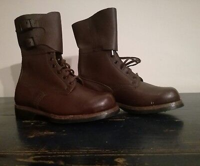 Vintage Army  Leather Boots