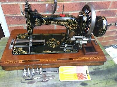 Beautiful Frister and Rossmann Model K Handcrank Sewing machine