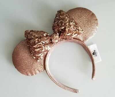 Disney Parks Briar Rose Gold Minnie Mouse Ears UWOT