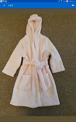 Marks and Spencer Girls Pink Dressing Gown Age 1-2, Excellent Condition