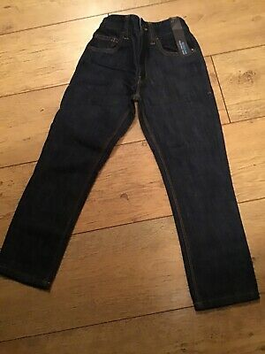 Boys Navy Denim Next Jeans Aged 6 Years Regular Adjustable Waist BNWT