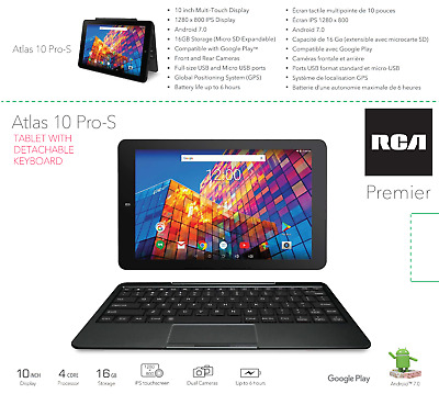 RCA Atlas 10 with 16G WiFi Touchscreen Tablet Android 7.0 (1 Year Warranty)