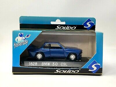 Solido BMW 3.0 CSL 1/43 Scale 1828 Collectible Car Made in France Brand New NIP