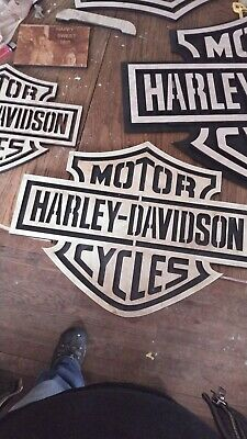 Harley Davidson Wooden Wall Art Sign Home Decor Motorcycle Wood Signs