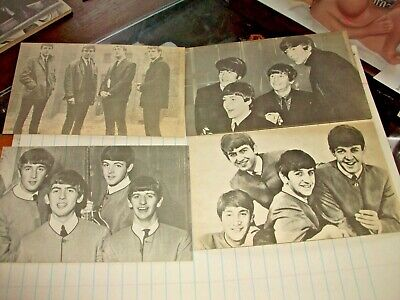 4 Original 1960's Beatles Exhibit Supply Mutoscope Vending Cards NOS all Differe