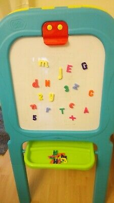 Chad Valley Double Sided Magnetic Easel Chalkboard Whiteboard Magnetic Letters