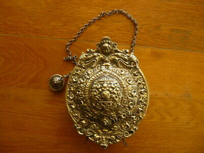 Antique 19C Greek Mount Athos Christian Religious Traditional Monk Flask Canteen