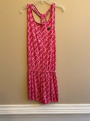 Juicy Couture Girls Cute Pink Romper Size 12 Orig $75 NWT