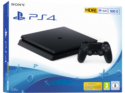 Sony PlayStation 4 Slim 500GB schwarz Jet Black CUH-2216A PS4 NEU OVP