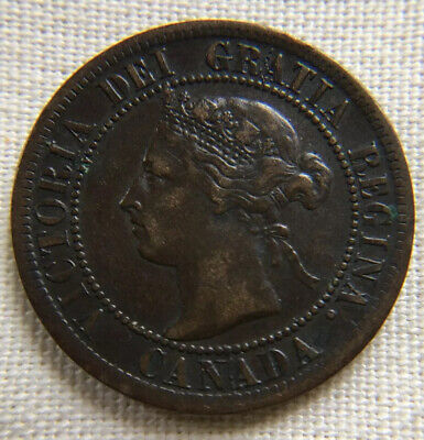 Canada 1895 Large Cent Victoria VF Better Date Canadian Penny