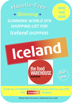 💕Iceland/Food Warehouse Slimming World Free/Low SYN Shopping List*Paper Edition