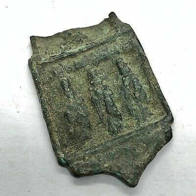 RARE 500-1300 AD Crusades Christian Relic Artifact Medieval Copper Authentic Old