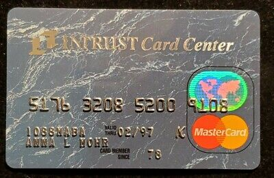 Intrust Card Center MasterCard credit card exp 1997♡free ship♡cc1096