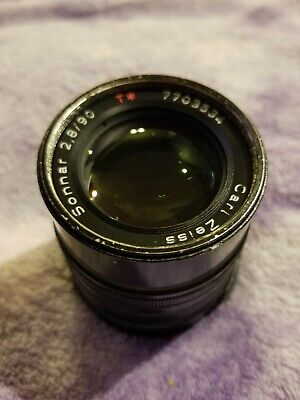 Contax Carl Zeiss Sonnar T* 90mm F/2.8 Lens For G1/G2 (painted black)