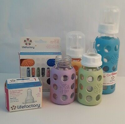 Life Factory Baby Bottles Lot Of 4 plus extras