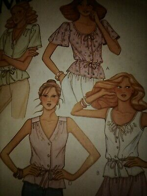 Sewing Pattern McCalls 6550 size 10 misses junior tops