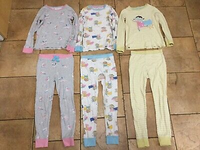 Next... Girls Set Of 3 Snuggle Fit Pyjamas...age 6-7 Years