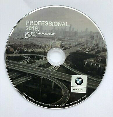 DVD Central Europe GPS BMW Road Map Professionnel 2019