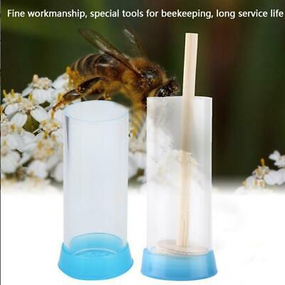 Plastic Queen Bee Marker Bottle Marking Cage Bottle Equip Plunger Beekeeper D9F8