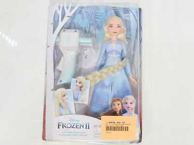 Disney Frozen II Sister Styles Elsa Fashion Doll with Extra-Long Blonde Hair, Br