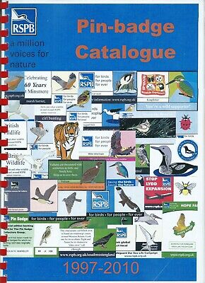 Rspb Pin- Badge Collectors Catalogue - 1997 - 2010
