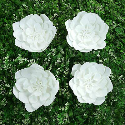"""4 Pack 12"""" Real Feel Foam Daisy Flowers For Walls Backdrops Centerpieces"""