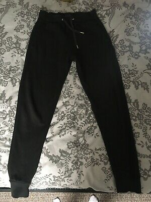 Mens Zara Black Casual Basic Joggers Size S