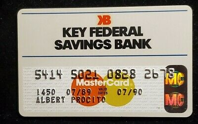 Key Federal Savings Bank MasterCard credit card exp 1990♡Free Shipping♡cc983