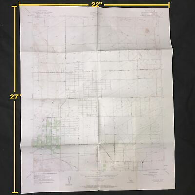 USGS Littlerock Quadrangle California Los Angeles Vintage 1957 Topographic Map