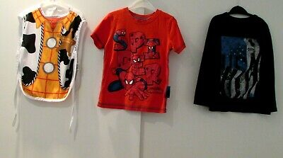 Boys Bundle Age 3-4 Years Spider-Man Top Gap Top & Woody Toy Story Dress Up