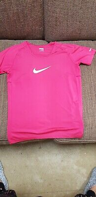 Girls Pink NIKE Dri-fit Tshirt Aged 13-15