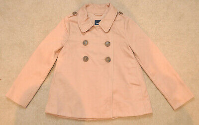 Gap Kids musk coloured girls double breasted coat, size 8-9years