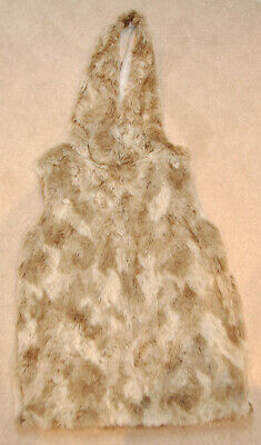 Next girls faux fur gillet with hood, size 12years