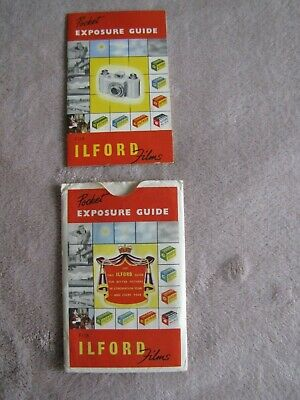 Ilford Pocket Exposure Guide for Ilford Films