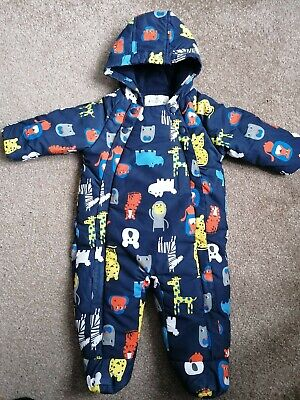 M&S Marks And Spencer 6-9 Month Snowsuit Pramsuit Boys