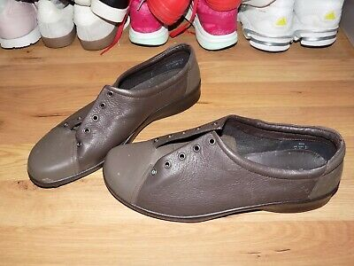 Ladies * Hotter Dew * Lace Up Comfort Style Shoes Size Uk 9 Eu 43 New Brown
