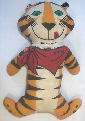 Rare Vintage Tony the Tiger Plush 1973 Kellogg Roasted Flakes Promo Toy Stuffed