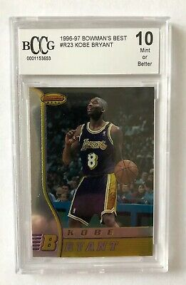 Kobe Bryant 96-97 BOWMANS BEST ROOKIE RC #R23, Graded Beckett 10 Gem Mint