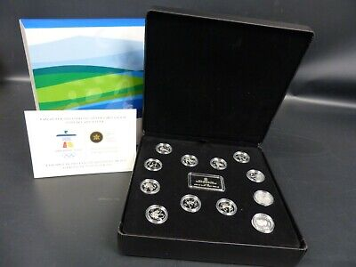 2010 Canada 25 Cents Sterling Silver Olympic Coin Set