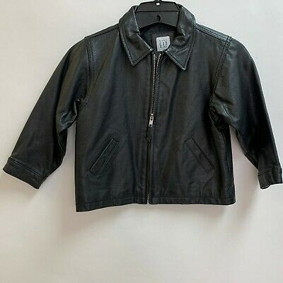 Baby GAP Kids Boys Girls Jacket 4XL 4 Yrs Black Genuine Leather