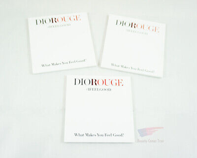 Dior Diorouge #IFEELGOOD Sticky Notes Notepads *NEW* RARE