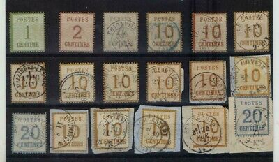 25 Timbres Emission Alsace Lorraine Moselle 2 C A 25 C Obliterations  1870/1871