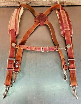 Occidental Leather - Work Suspenders W/ Sheepskin Lined Shoulder Pads - USA Made