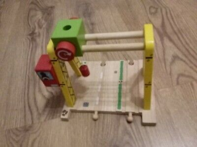 wooden train track bigjigs gantry crane road and rail compatible wit brio thomas
