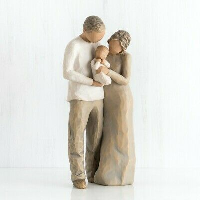Willow Tree, We Are Three, Susan Lordi Sculpture, Hand-painted, New in box
