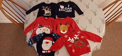 Boys clothes Bundle 12- 24 Months Christmas jumpers